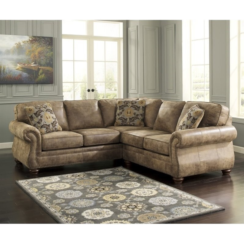 sectional sofas ashley furniture living room decor ideas with grey sofa larkinhurst 2 piece faux leather in earth ...