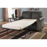 Ashley Furniture Lottie Leather Twin Sleeper Sofa in Slate ...