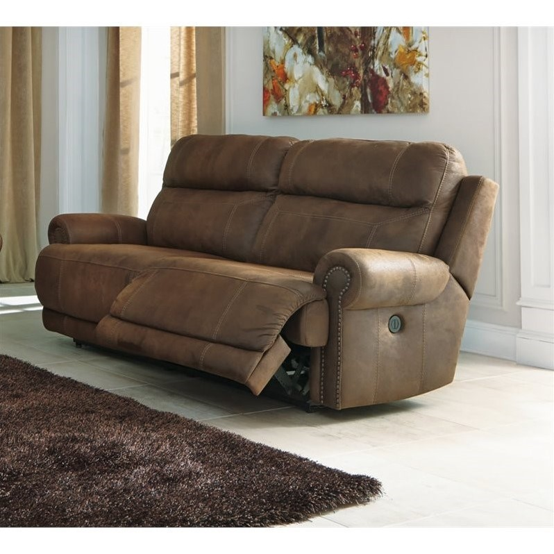 power reclining leather sofa sets thomasville with chaise ashley austere 2 seat faux in ...