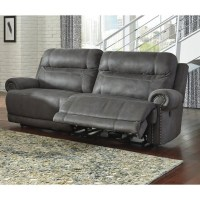 Ashley Furniture Austere Faux Leather Reclining Sofa in