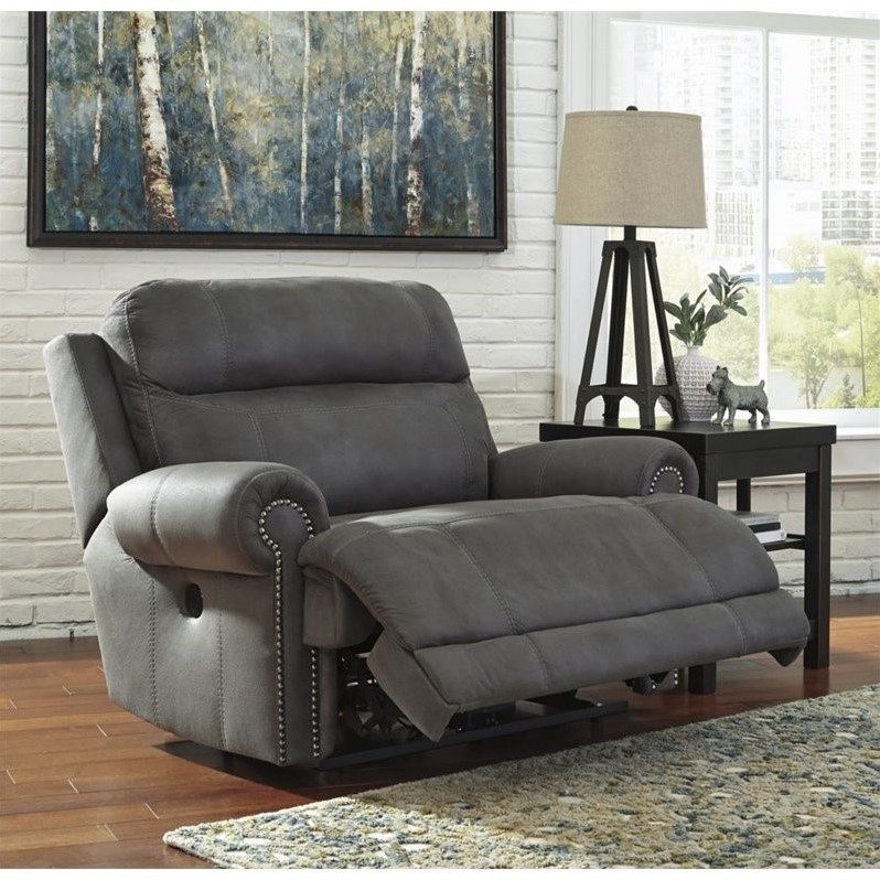 reclining sofas and loveseats sets double chaise sofa ashley austere faux leather power zero wall wide recliner ...