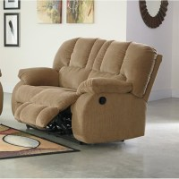 Ashley Roan Fabric Reclining Loveseat in Mocha