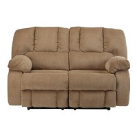 Ashley Roan Fabric Reclining Loveseat in Mocha - 3860286