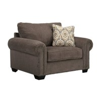 Ashley Emelen Oversized Fabric Accent Chair in Alloy