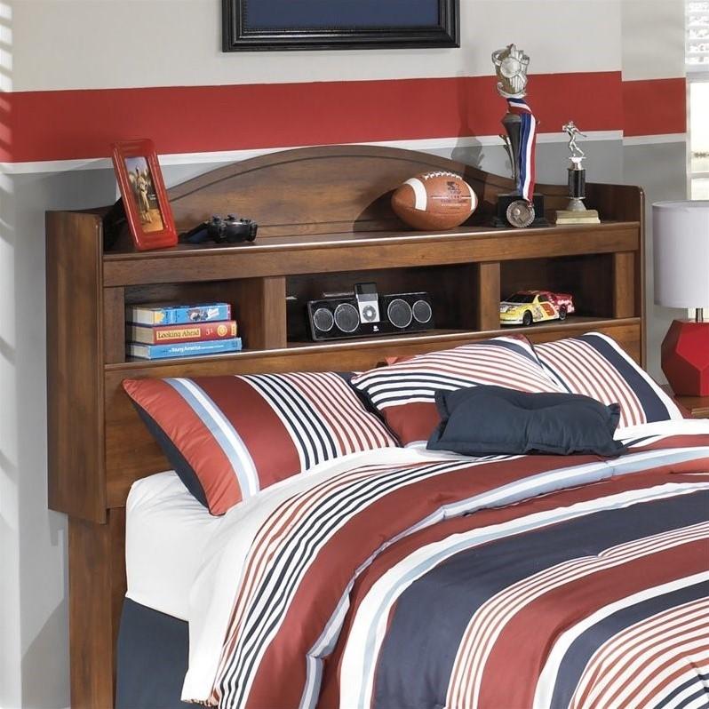 Ashley Barchan Wood Full Bookcase Headboard In Brown B228 65