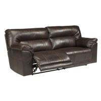 Ashley Furniture Barrettsville Leather Reclining Sofa in