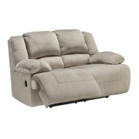 Ashley Toletta Fabric Power Reclining Loveseat in Granite
