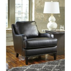 Ashley Leather Sofas And Loveseats Sofa Glam Velvet Laylanne Faux Accent Chair In Black - 7080421