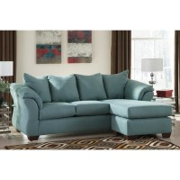 Ashley Darcy Fabric 2 Piece Chaise Sofa in Sky - 7500618