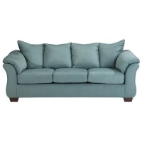 Ashley Darcy Fabric Full Size Sleeper Sofa in Sky - 7500636