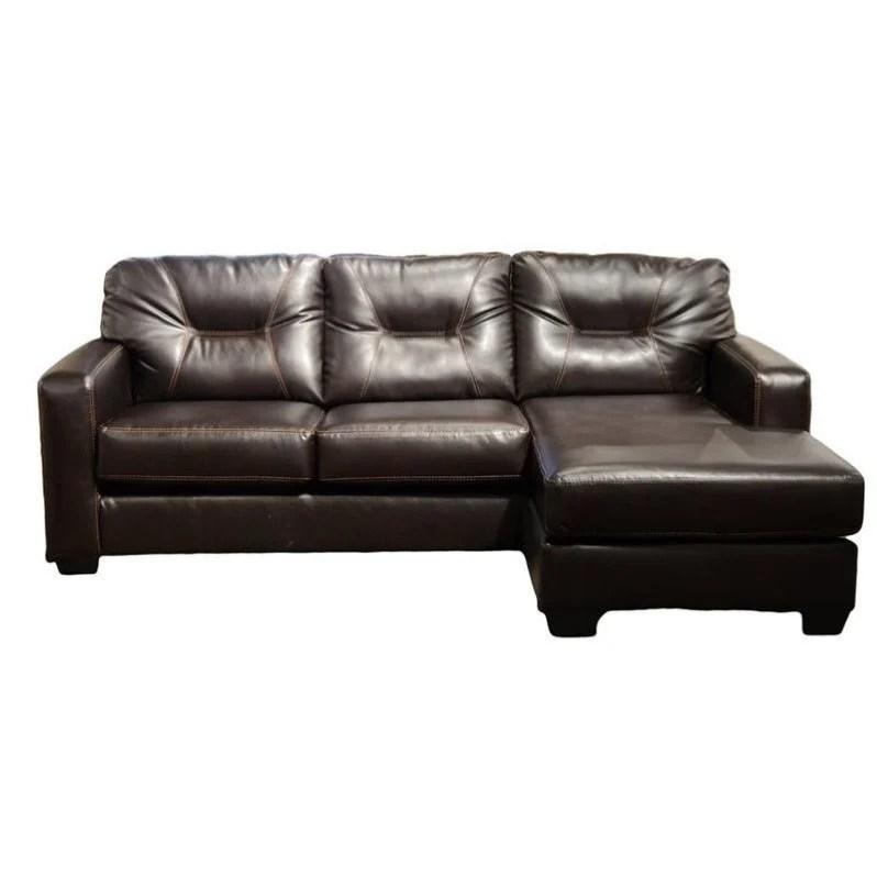 ashley leather sofas and loveseats simon li sofa review alluvia reversible 2 piece faux sectional ...