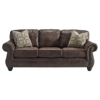 Ashley Breville Faux Leather Queen Size Sleeper Sofa in ...
