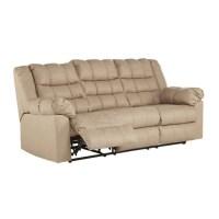 Ashley Brolayne Leather Reclining Sofa in Beige