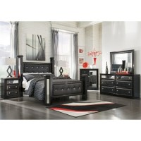 Ashley Alamadyre 6 Piece Faux Leather King Poster Panel ...