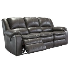 Reclining Sofa Brands Dfs Sofas Camper Ashley Long Knight Faux Leather In Gray ...