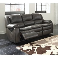 Ashley Furniture Sofa Sales Sectional Sofas Condo Size Toronto Long Knight Faux Leather Reclining In Gray ...