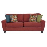 Ashley Sagen Fabric Queen Size Sleeper Sofa in Sienna ...