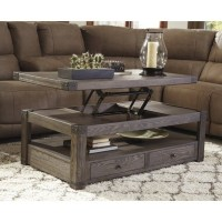 Ashley Burladen Rectangular Lift Top Coffee Table in ...