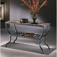 Ashley Antigo Slate Tile Sofa Table in Black - T233-4