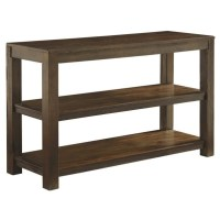 Ashley Grinlyn Sofa Table in Rustic Brown - T660-4