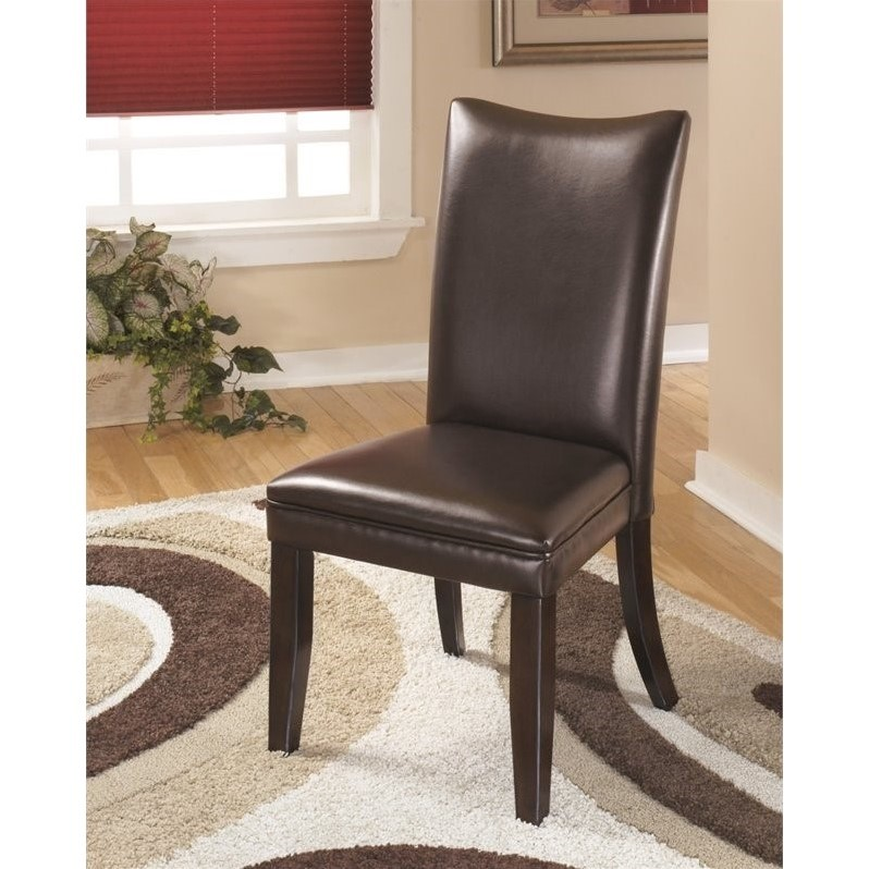 ashley dining room chairs youth chair charrell faux leather side in medium brown d357 01