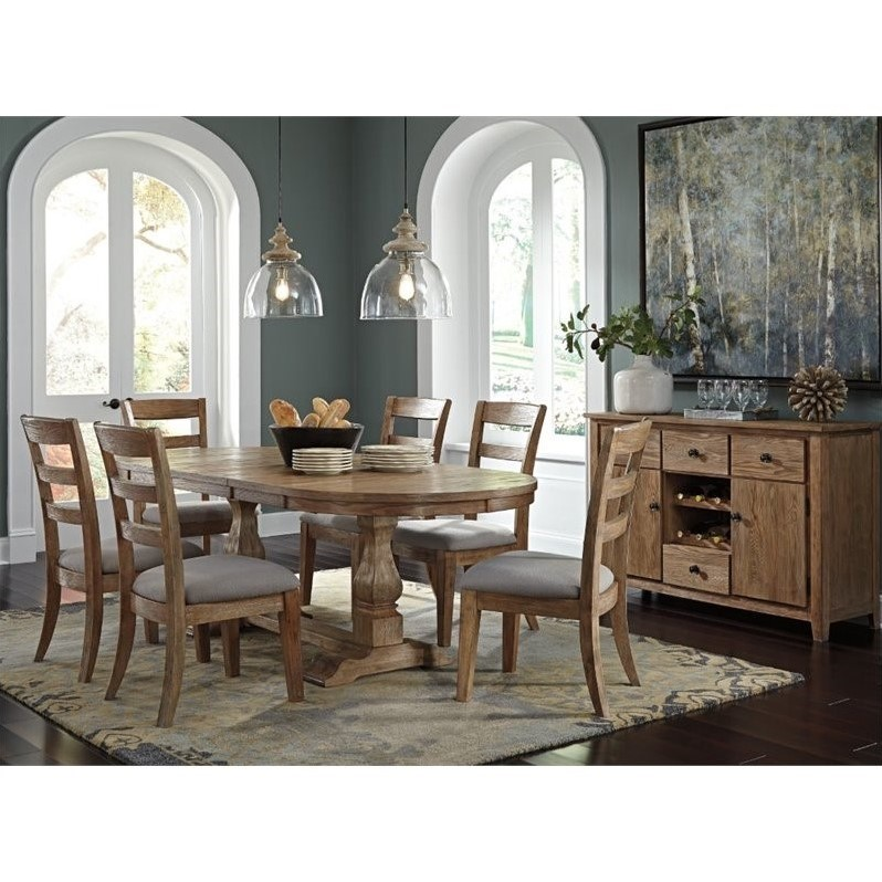 Ashley Danimore 8 Piece Oval Dining Set With Buffet In