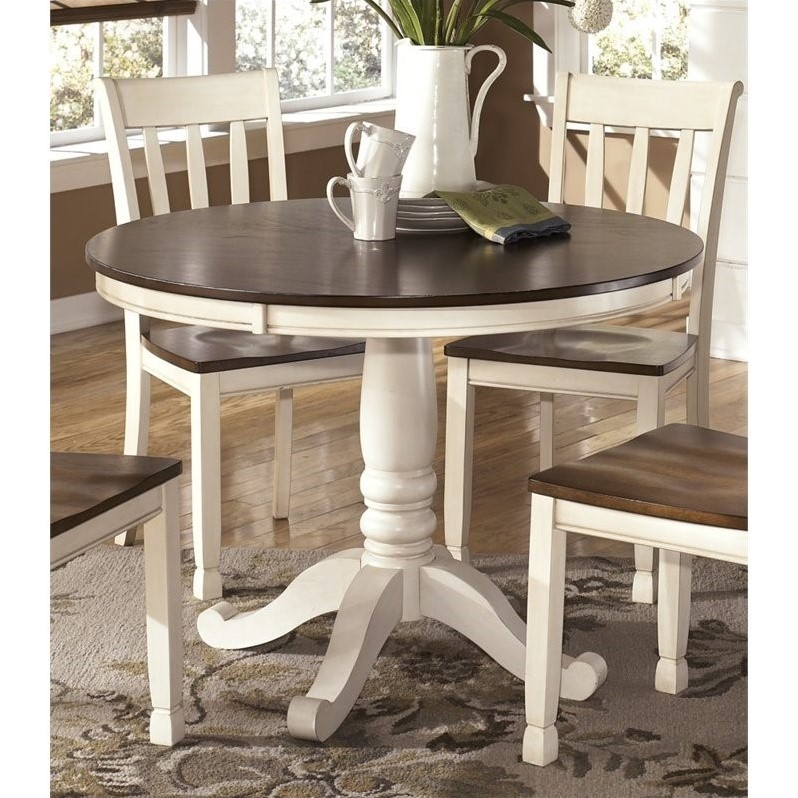 Ashley Whitesburg Round Dining Table In Brown And Cottage