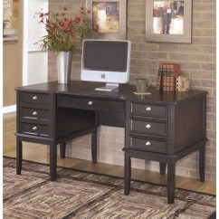Home Decor Accent Chairs Chrome Kitchen Ashley Carlyle Office Executive Desk In Almost Black - H371-27