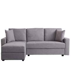 Aspen Convertible Sectional Storage Sofa Bed Box Gold Sparrow Ash With Chaise And Berto Interchangeable
