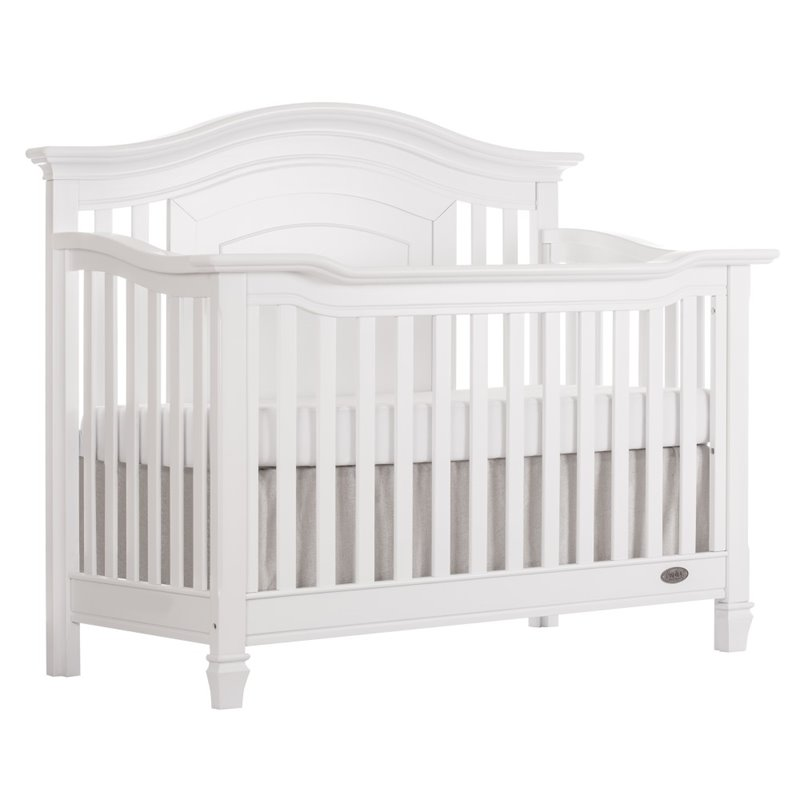 Evolur Fairbanks 5 In 1 Convertible Crib In Winter White
