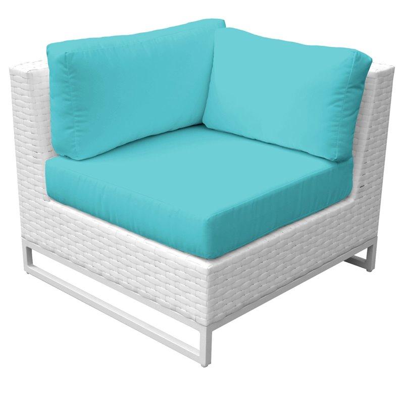 turquoise patio chairs wall mounted chair rack tkc miami corner in tkc047b cs aruba