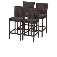 Outdoor Bar Chairs Replacement Rocking Chair Cushions Stools Cymax Stores Tkc Venice Wicker In Chestnut Brown