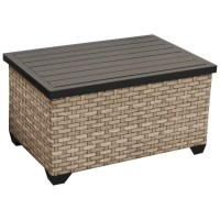 TKC Monterey Outdoor Wicker Storage Coffee Table in Summer
