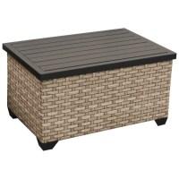 TKC Monterey Outdoor Wicker Storage Coffee Table in Summer