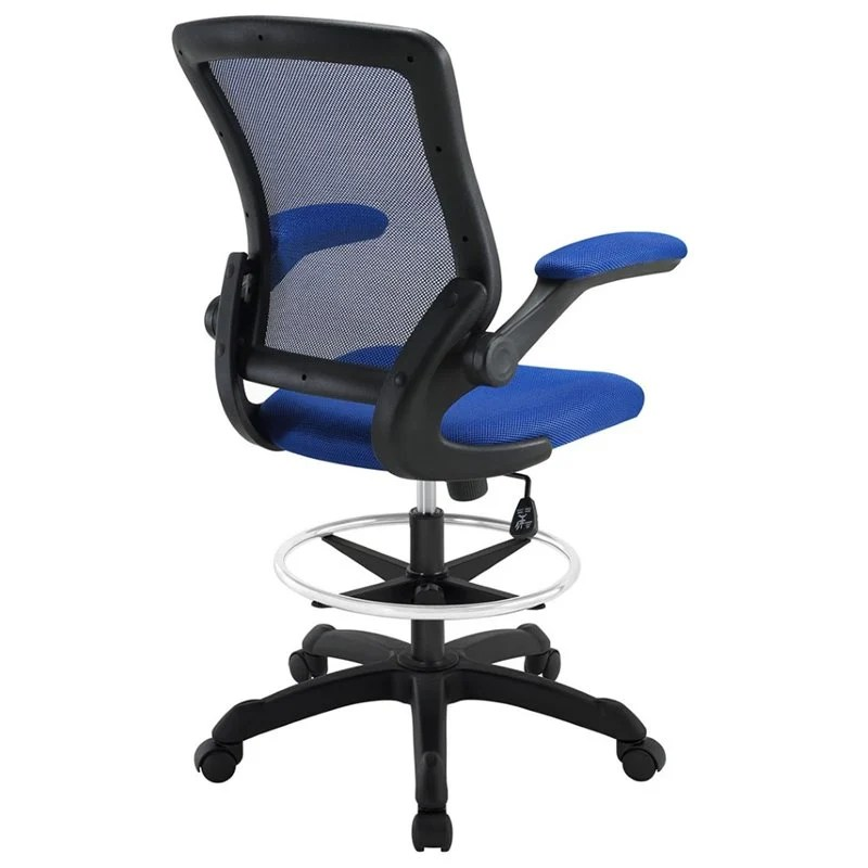 mesh drafting chair office chairs under 50 dollars modway veer stool in blue eei 1423 blu