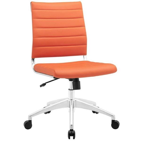Orange Armless Office Chairs