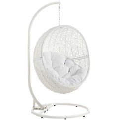 Swing Chair Pics Deck Lounge Modway Hide Patio With Stand In White Eei 2273 Whi