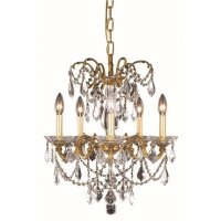 "Elegant Lighting Athena 18"" 5 Light Spectra Crystal ..."