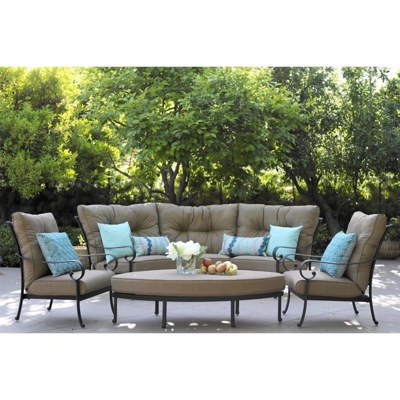 6pc outdoor patio garden wicker furniture rattan sofa set sectional grey gus modern adelaide reviews the hom kessler 4pc ...