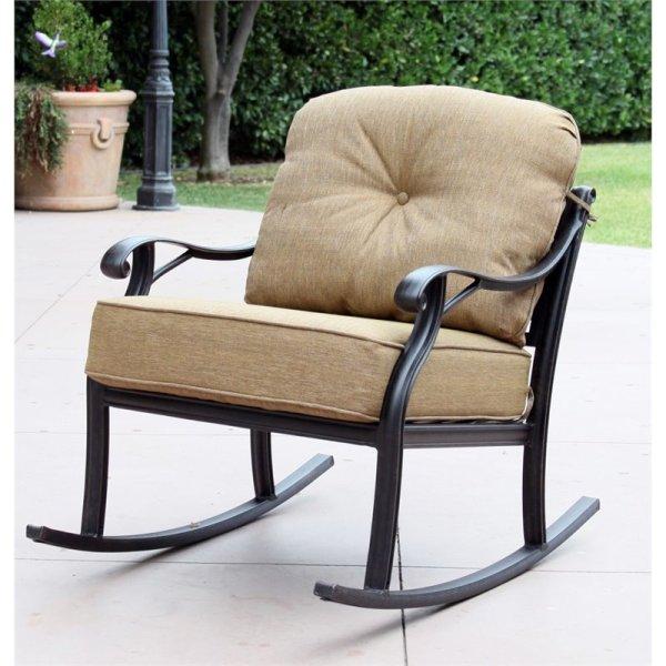 Darlee Nassau Patio Rocking Chair In Antique Bronze Set Of 2