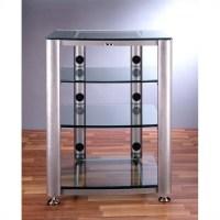 4 Shelf Glass Audio Cabinet/Rack - HGR404X