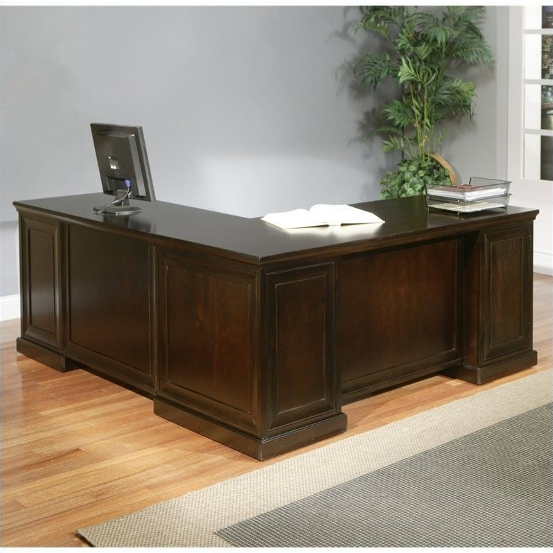 Martin Furniture Fulton 68 RHF LShaped Executive Desk in