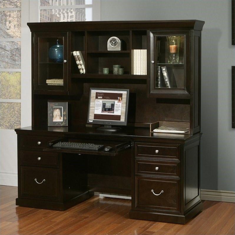 Martin Furniture Fulton Credenza with Hutch in Espresso