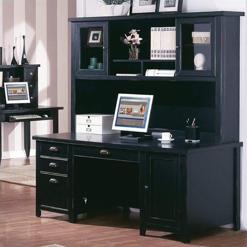 Martin Furniture Tribeca Loft Double Pedestal Desk with