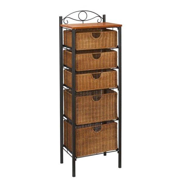Storage Units with Wicker Drawers