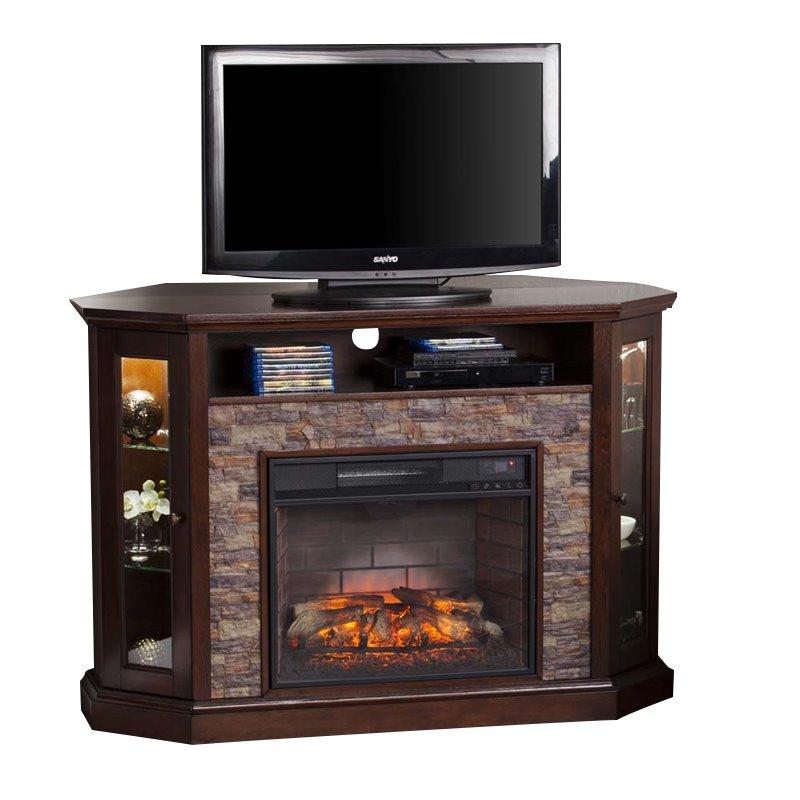 Southern Enterprises Redden Corner Electric Fireplace TV Stand 37732293929  eBay