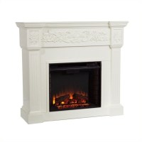 Southern Enterprises Calvert Ivory Electric Fireplace - FE9279