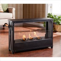 Layton Portable Indoor-Outdoor Fireplace in Black - FA5843