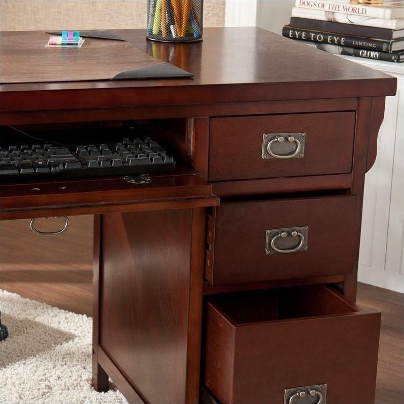 Southern Enterprises Mission Computer Desk in Dark Cherry