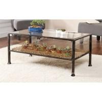 Southern Enterprises Terrarium Glass Display Coffee Table ...